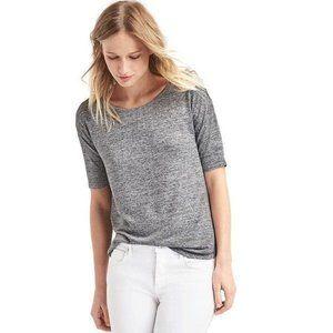 GAP | Heathergray Softspun Rollsleeve Knit Tee